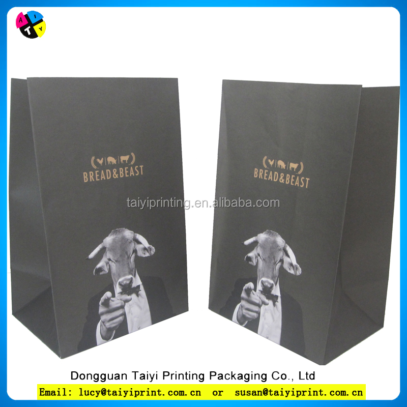 Kraft food custom design printed paper gift bags india
