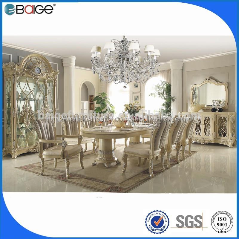 Dt 8006 table manger de luxe table salle manger en for Salle a manger de luxe en bois