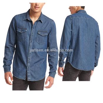 2b83d5e5f368 Western Style Jeans Shirt 100% Cotton Stone Wash Man Denim Shirt ...