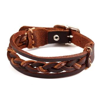 Custom Made Jewelry Leather Mexico Brown Simple Bracelet