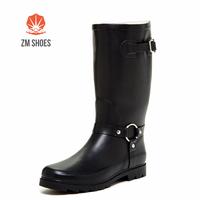 Size 5 6 7 8 9 10 11 12 13 cheap womens black rain boots matte