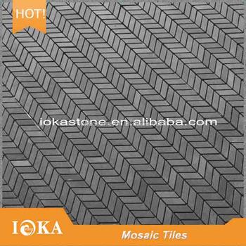 Schwarz Pfeil Form Mosaik Fliesen Für Badezimmer Dekoration