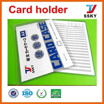 A3/a4 Size Hard Clear Plastic Card Case Card Holder Case