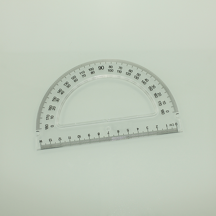 4 PIECE 30CM GEOMETRY SET Ruler protractor and set square