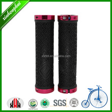 XH-G116BL Comfortable bicycle handlebar grips rubber parts for mountain BMX kids bike part maker with Aluminum Alloy