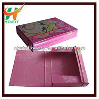 Cardboard box file/file folder with elastic closure