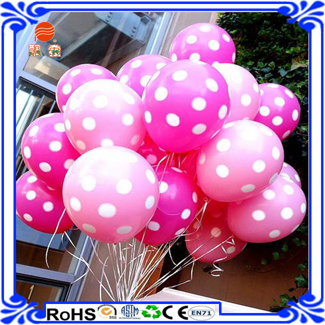 Birthday Party Decoration 12 Inch Latex Dot Printed Balloon