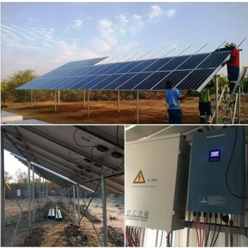 high efficiency 37kw solar pumping inverter HSPH37KH over flow protection dry run protection by sensor/software