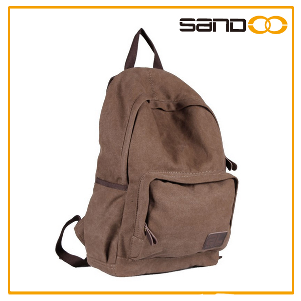 New leisure men's canvas backpack, classical rucksack