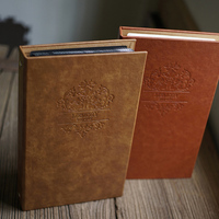Vintage Style 8x12 Inches Embossed Leather Wedding Photo Albums For Lover