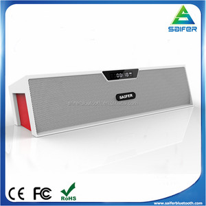 2017 latest fashion Hifi portable TF card USB player alarm clock wireless 2.1 speaker with fm radio for gifts