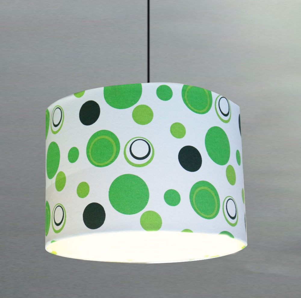 Green Cross Edge Wave point lampshade,National Wind lamp