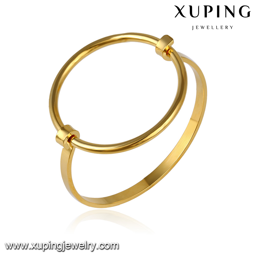 51649 xuping gold jewellery baby simple gold bangles designs