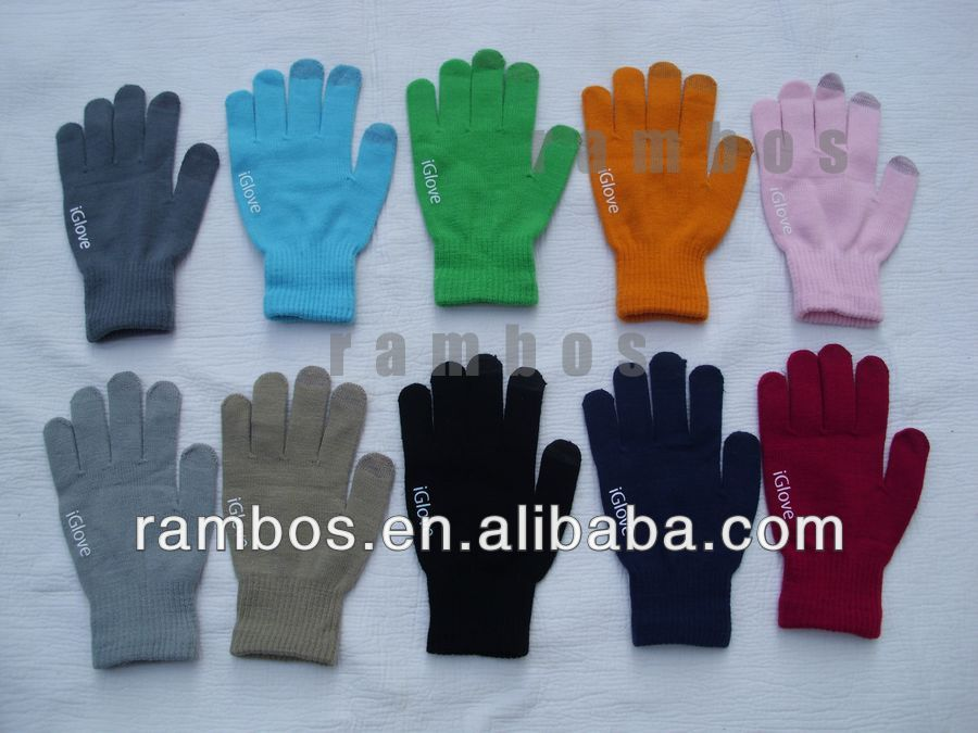 Universal Touch Gloves with Finger Touch Popular Custom Touch Gloves Touchscreen Gloves iGlove