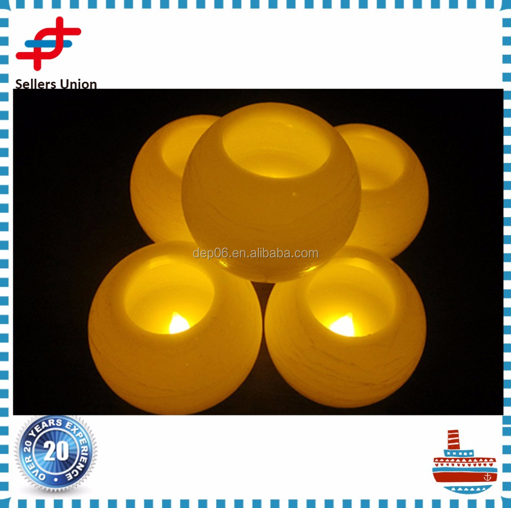 Chinese egg shape Real Paraffin Wax colored moving flame led flameless candle