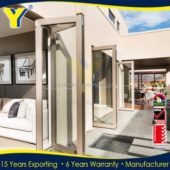 Accordion Doors Type And Folding Open Style Pvc Wood Grain Folding