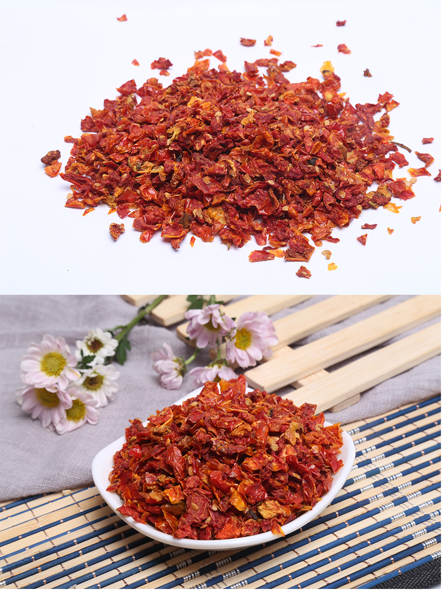 Dehydrated red bell pepper sweet red pepper granules red pepper flakes