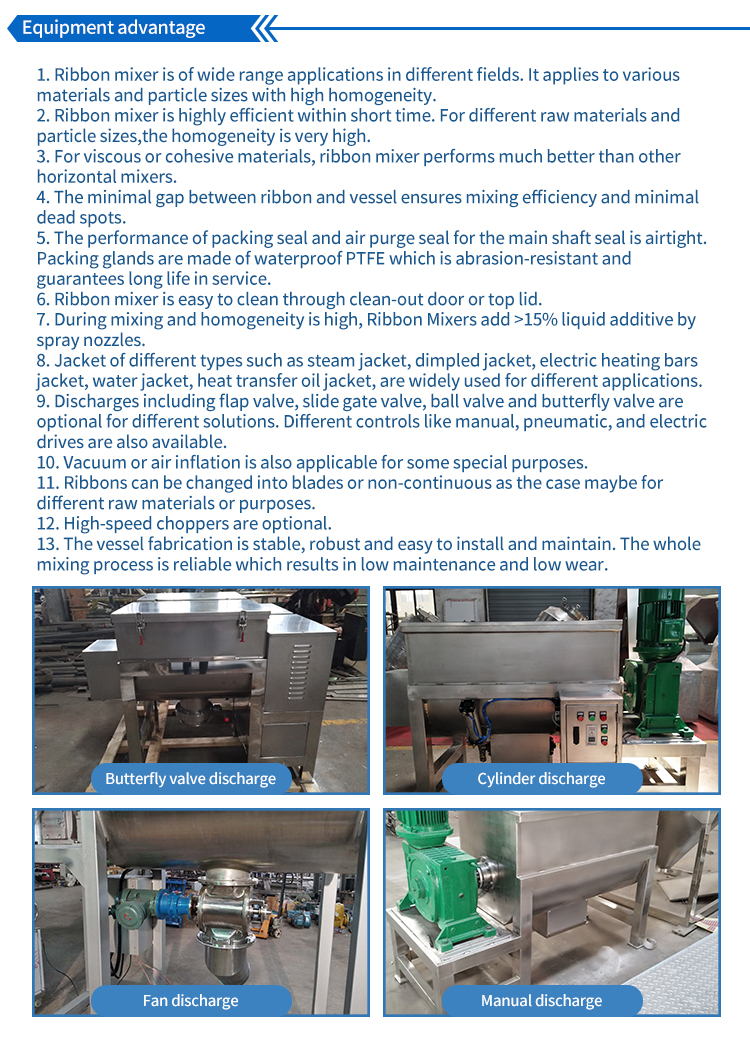 Cement And Sand Dry Powder Ribbon Chemical Compost Product Mixer