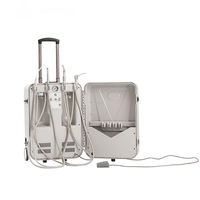 550W Mobile Cart Portable Dental Unit with Silent Air Compressor