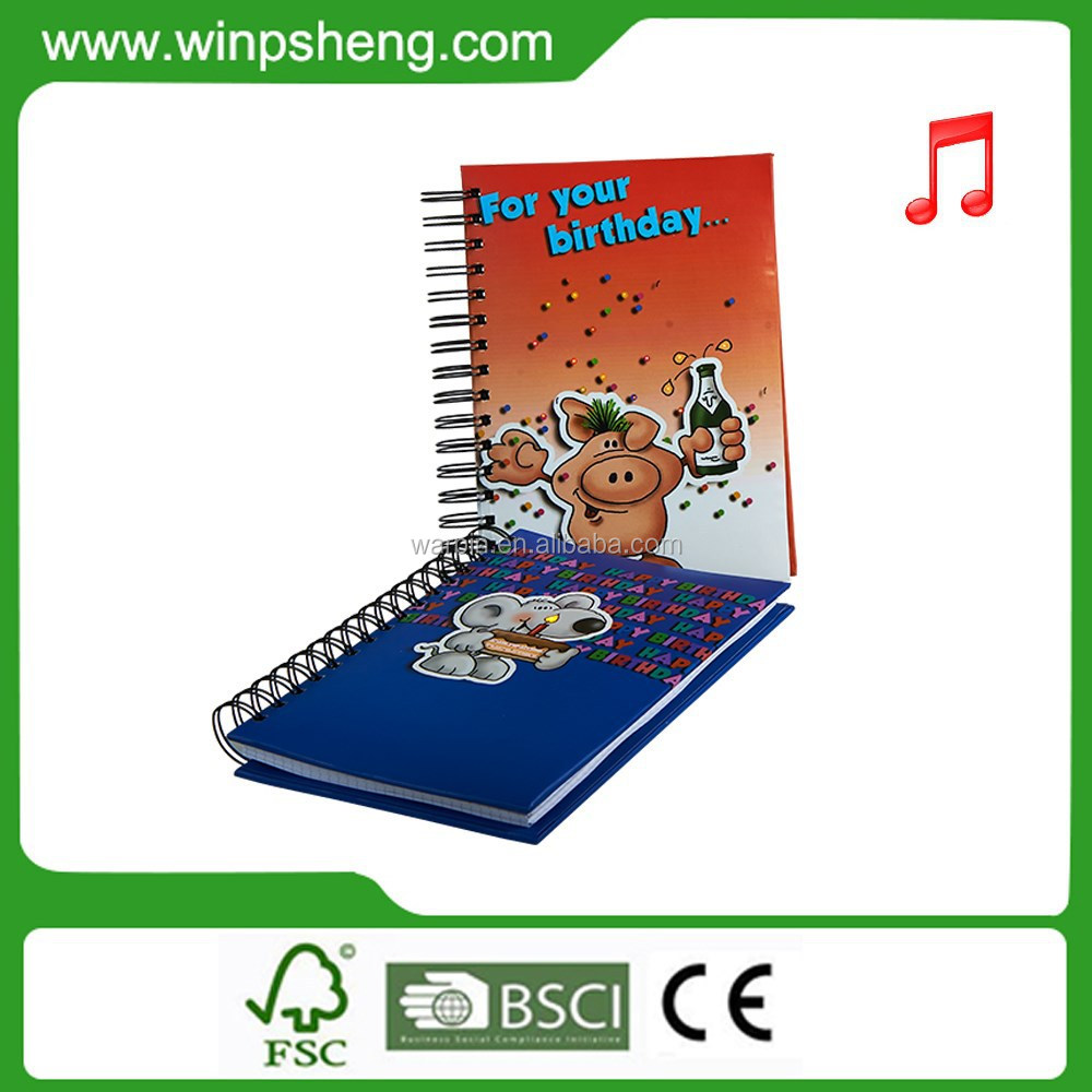 Good Quality Spiral Cardboard Notebook With Color Pages
