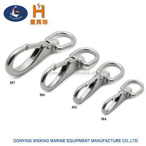 316 stainless steel swivel carabiner snap clip
