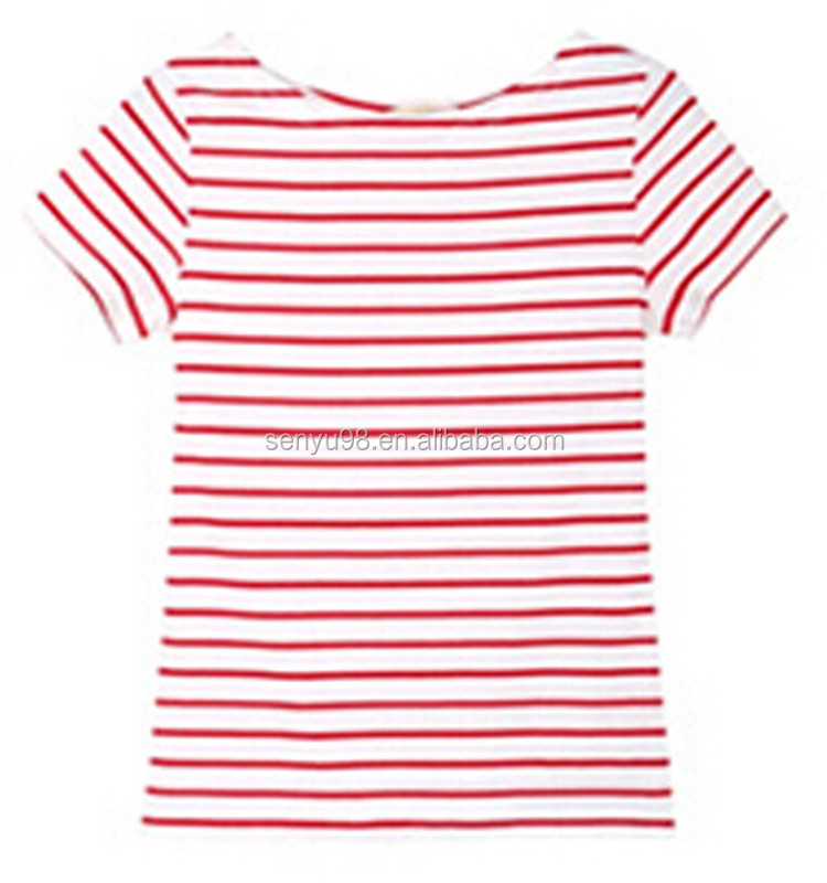 Red And White Striped T Shirt Womens