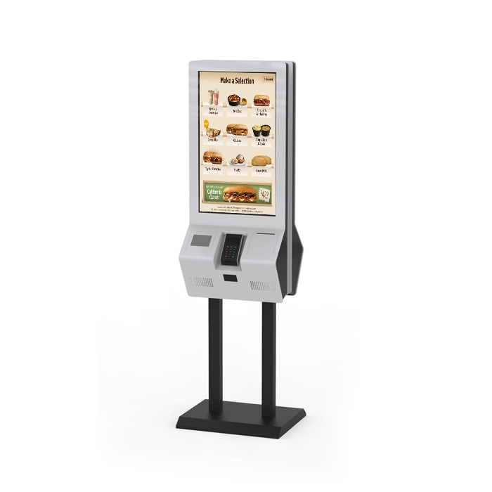 32inch Touch Screen floor standing 80MM Printer Kiosk Self service kiosk <strong>Payment</strong> kiosk with 2D Barcode Scanner