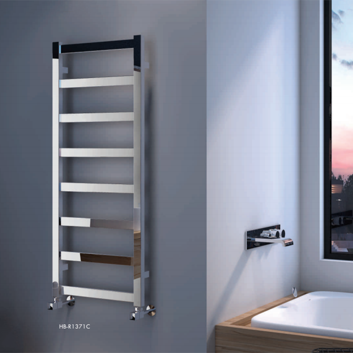 Stainless steel wall mounted heated towel rail rack