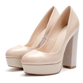 7bb10854f3b Guangzhou Block High Heel Platform Wedding Shoes for Bride Women Ladies  Pumps Dress Shoes