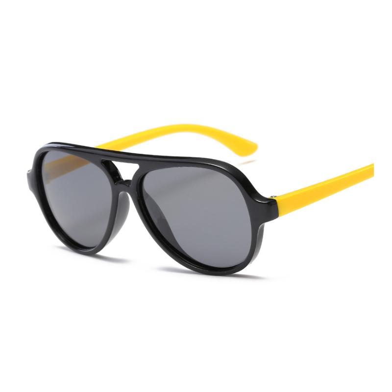 75d18ccbb 2019 جديد نمط الاستقطاب بارد الاطفال سيليكون الشمس نظارات النظارات الشمسية  الطيران مصمم البيضاوي النظارات الشمسية