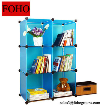 Small Bedside Diy Pp Portable Plastic Wall Shelf For Books Toys And