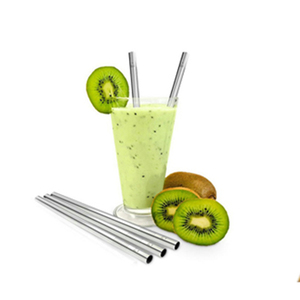 High quality multi-used lightweight glass jar stainless steel straws