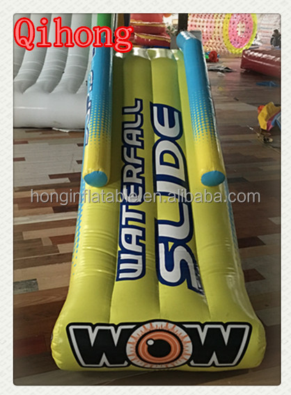 best selling used inflatable floating water park, towable mini water slide with jumping
