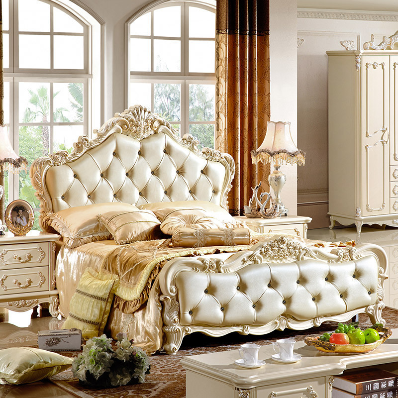 Foshan Furniture Factory Direct Wholesale Leather Bed 009