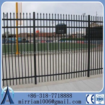 2015 the best price American type 3 rails spearhead head steel picket fencing