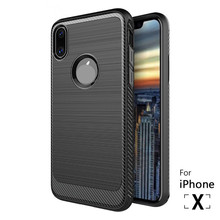 For Sale Shockproof 360 degrees Protective carbon fiber TPU mobile phone cover case for iphone X 10
