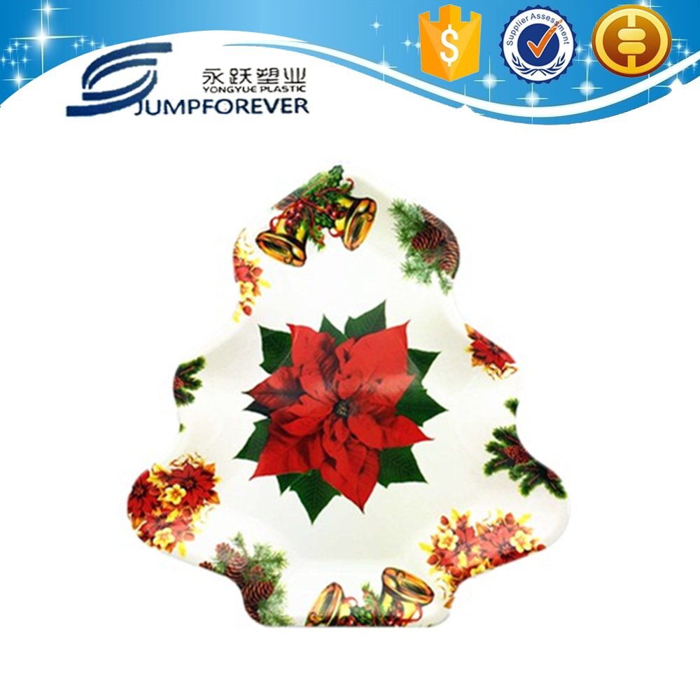 2015 best selling Plastic household christmas gift for christmas tree shaped plates