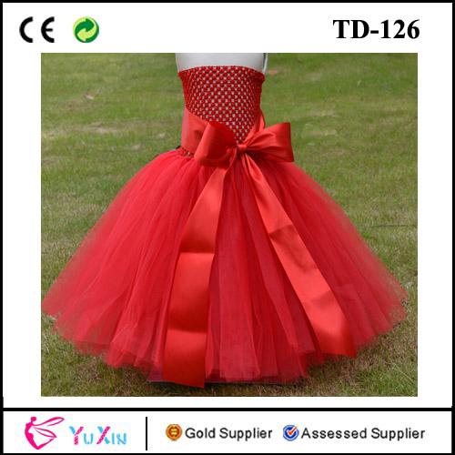 eed13c24d hecho a mano de tul rojo de cumpleaños niña tutu vestido para los .