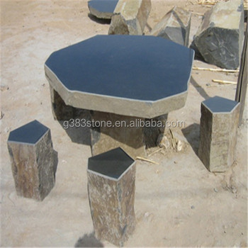 Antique Marble Table Top Iron Garden Furniture Set