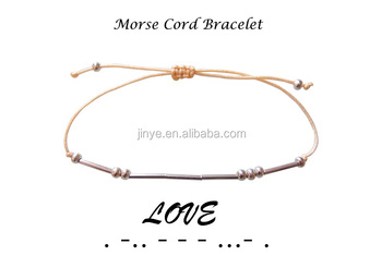 Love Morse Code Bracelet ,2017 Valentines Day Gifts