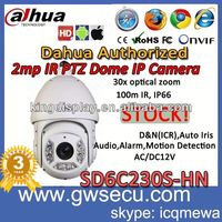 wholesale dahua PTZ IP Dome Camera DH-SD6C230S-HN outdoor waterproof ip66 security cctv 30x zoom high speed dome cctv ip camera