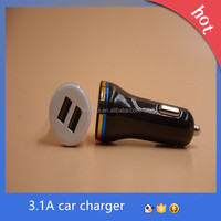 5V 2.1A/3.1A Portable Dual Car Charger 2A Car Charger Usb 2 Port Usb Car Charger For Smart Phone