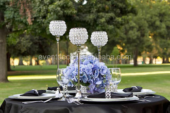 Tall Crystal Candle Holder Wedding Table Centerpieces,Silver Candle ...
