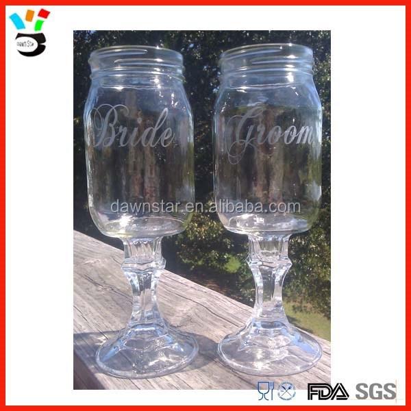 tall stem 16oz redneck goblet mason jar wine glass buy mason jar wine glass redneck wine glass. Black Bedroom Furniture Sets. Home Design Ideas