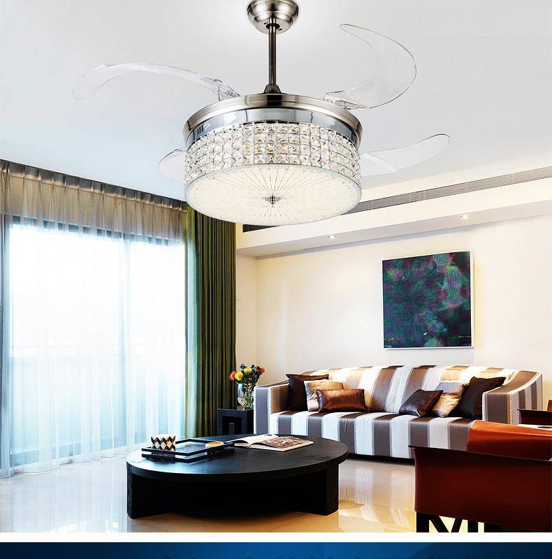 LED-light-ceiling-chandelier-fan-variable-expansion-simple