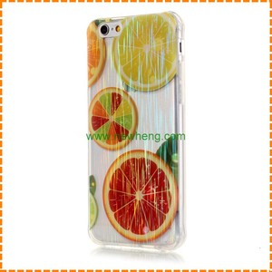 Personalized Hot TPU Cover Fruit Lemon Summer Colorful Soft phone Case for iPhone 6 6 Plus