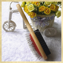 pet products dog wooden handle brush