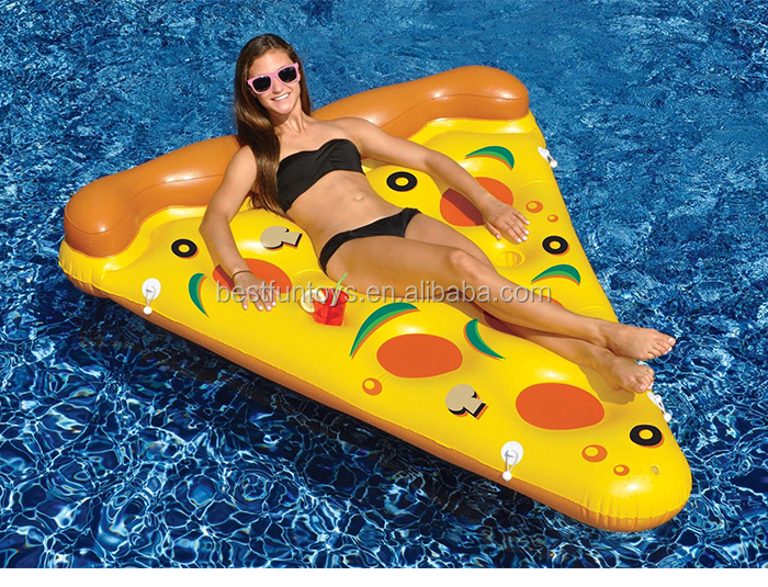 Factory Customized Advertising Inflatable Pizza Pool Float Raft ...