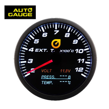 Taiwan Combo Black Panel Analog Auto Car F Thermometer Exhaust Gas Temperature Gauge