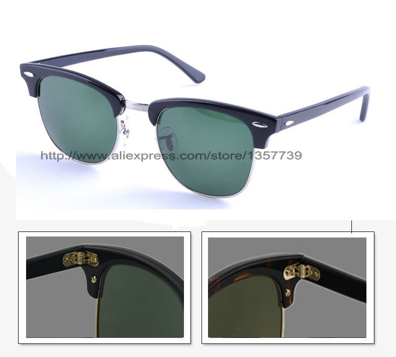 993464cb8564e Get Quotations · Free Shipping Hot Selling Best Quality Designer Black  Silver Frame Green Sunglass Mens